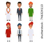 indian character couple of... | Shutterstock .eps vector #746324113