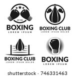 boxing club logo set. boxing... | Shutterstock .eps vector #746331463