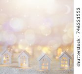 christmas cityscape with small... | Shutterstock . vector #746331553