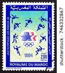 morocco   circa 1984  a stamp... | Shutterstock . vector #746332867
