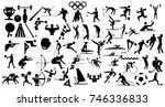 sport silhouette | Shutterstock . vector #746336833