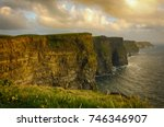 cliffs of moher   county clare  ... | Shutterstock . vector #746346907