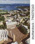 Small photo of Aerial image of the University of Washington, Washington, USA