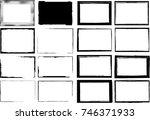 vector frames. rectangles for... | Shutterstock .eps vector #746371933