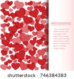 many red hearts background... | Shutterstock .eps vector #746384383