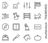 thin line icon set   touch ...   Shutterstock .eps vector #746385403