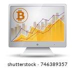 bitcoin statistics chart... | Shutterstock .eps vector #746389357