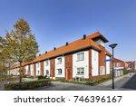 street in a residential...   Shutterstock . vector #746396167