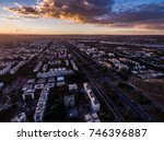 Aerial View Of Sunset In Asa...
