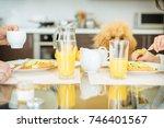 couple having breakfast... | Shutterstock . vector #746401567