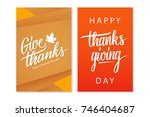 happy thanksgiving day... | Shutterstock .eps vector #746404687