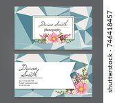 business card with beautiful...   Shutterstock .eps vector #746418457