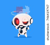 cute robot broken isolated icon ... | Shutterstock .eps vector #746419747