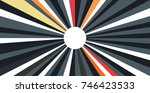 abstract multicolor sunbeams... | Shutterstock .eps vector #746423533