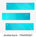 minimal banner templates with... | Shutterstock .eps vector #746430367