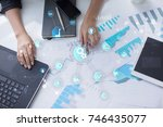 smart industry and automation... | Shutterstock . vector #746435077