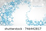 christmas light background with ... | Shutterstock .eps vector #746442817
