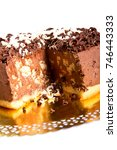 chocolate cake with chocolate...   Shutterstock . vector #746443333