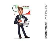 business sketch man | Shutterstock .eps vector #746443447