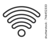 wifi line icon  web and mobile  ...