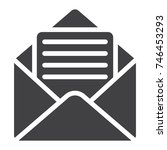 open mail glyph icon  web and...