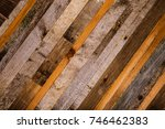 wooden background from the ends