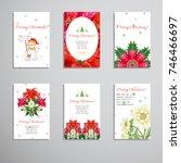 set of six vertical business...   Shutterstock .eps vector #746466697
