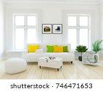 white scandinavian room... | Shutterstock . vector #746471653