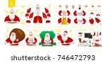 santa claus character  set for... | Shutterstock .eps vector #746472793