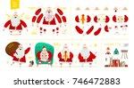 santa claus character  set for... | Shutterstock .eps vector #746472883