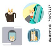 traveling with dogs. vector... | Shutterstock .eps vector #746478187