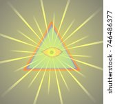 symbolic image of the third eye. | Shutterstock .eps vector #746486377