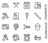 thin line icon set   iron ... | Shutterstock .eps vector #746490973