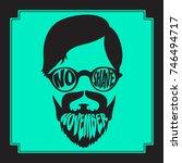 no shave november. mustache...   Shutterstock .eps vector #746494717