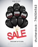 black friday sale poster with... | Shutterstock .eps vector #746504563