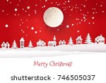 paper cut out and craft winter... | Shutterstock . vector #746505037