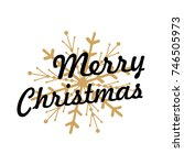 merry christmas lettering with... | Shutterstock .eps vector #746505973