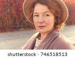 close up portrait of an adult... | Shutterstock . vector #746518513