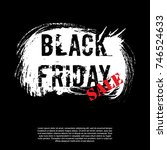 black friday banner layout... | Shutterstock .eps vector #746524633
