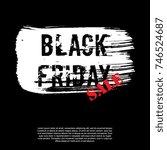 black friday banner layout... | Shutterstock .eps vector #746524687