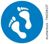 Foot  Blue Frame  Vector  Icon