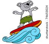 an image of a koala going... | Shutterstock . vector #74653024