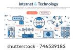 vector linear web site header... | Shutterstock .eps vector #746539183