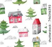 watercolor seamless pattern...   Shutterstock . vector #746546593