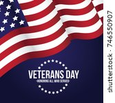 veterans day illustration. eps... | Shutterstock .eps vector #746550907