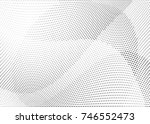 abstract halftone wave dotted... | Shutterstock .eps vector #746552473