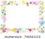 border of memphis round... | Shutterstock . vector #746561113