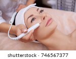the cosmetologist makes the... | Shutterstock . vector #746567377