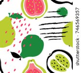 abstract bright colorful guava...   Shutterstock .eps vector #746569357