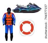 vector illustration of water... | Shutterstock .eps vector #746577157